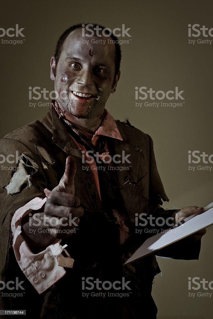 thumbs up zombie royalty-free stock photo