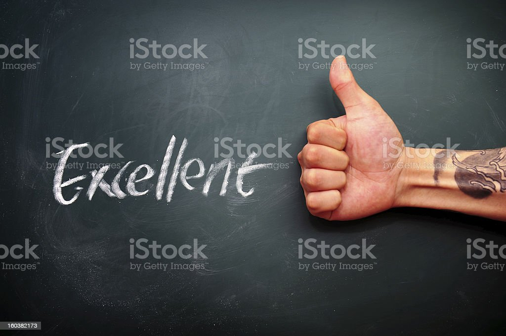 Thumbs Up-tatto hand royalty-free stock photo