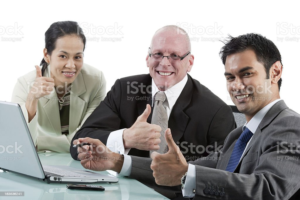 Thumbs-Up Business royalty-free stock photo