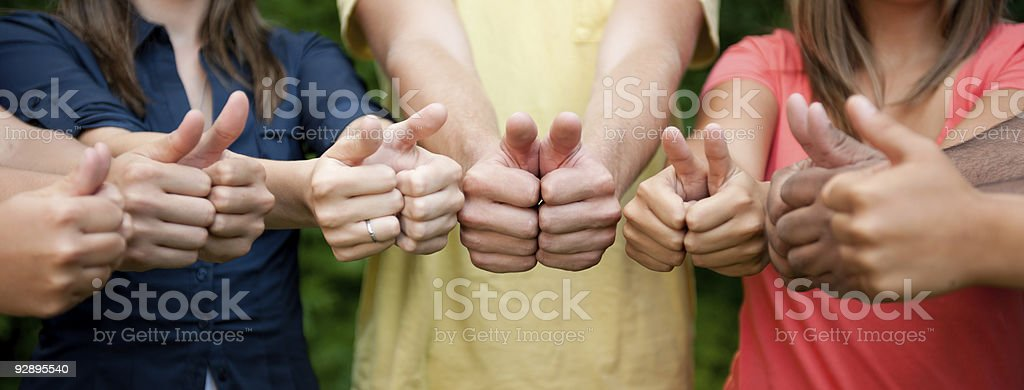 Thumbs-up royalty-free stock photo