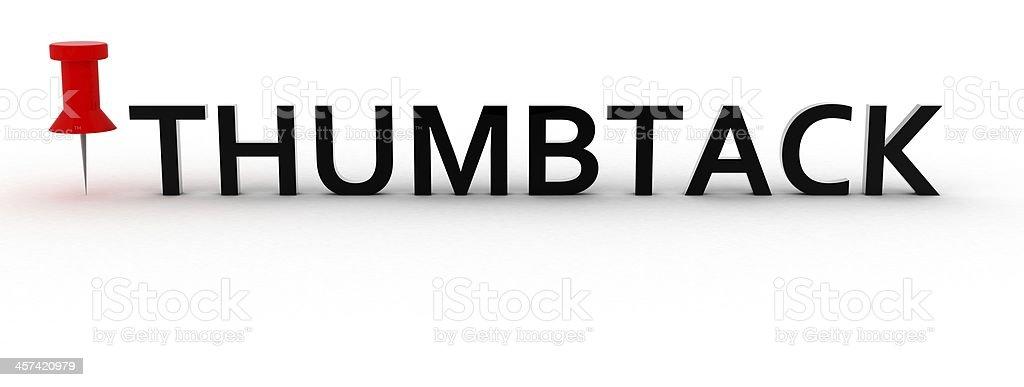thumbtack stock photo