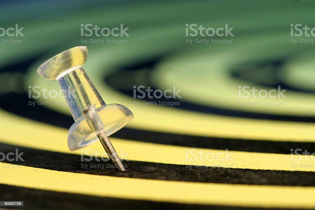 Thumbtack royalty-free stock photo