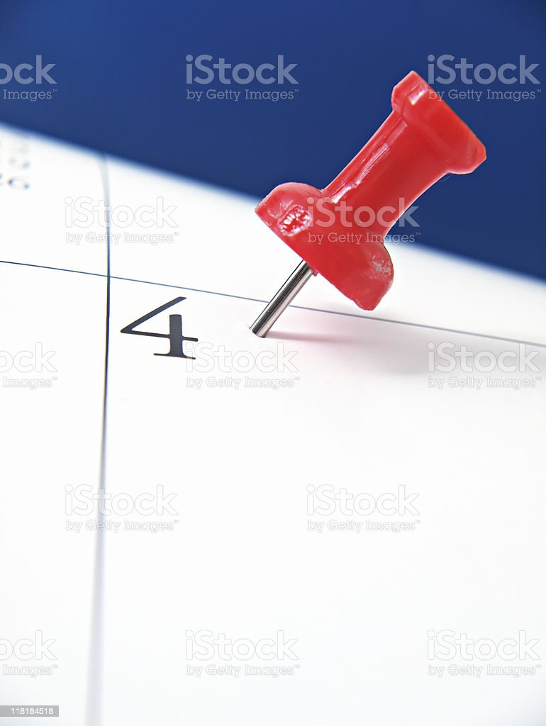Thumbtack Reminder royalty-free stock photo