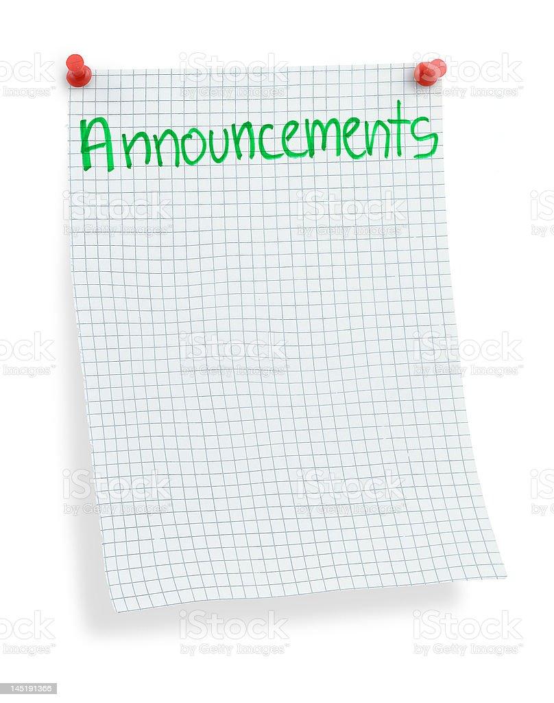 thumbtacked squared paper stock photo