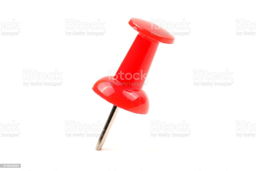 Thumbtacks, drawing pins isolation on white background stock photo