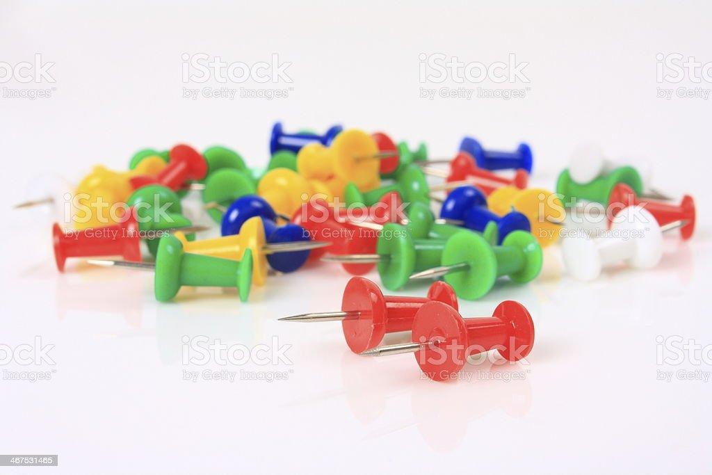 Thumbtacks, drawing pins stock photo