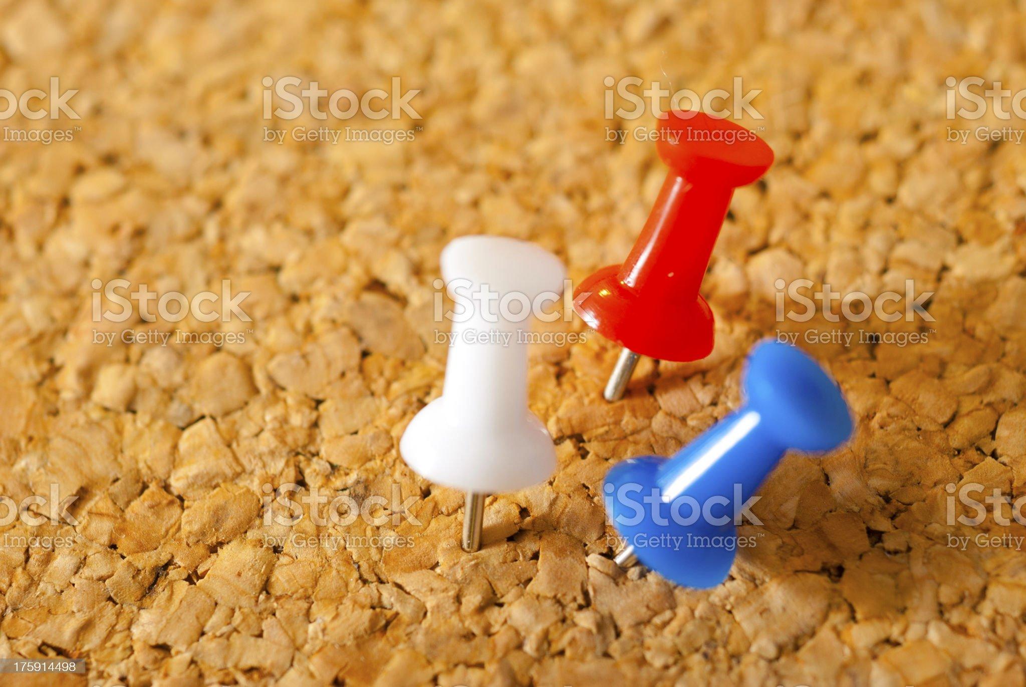 Thumbtacks royalty-free stock photo