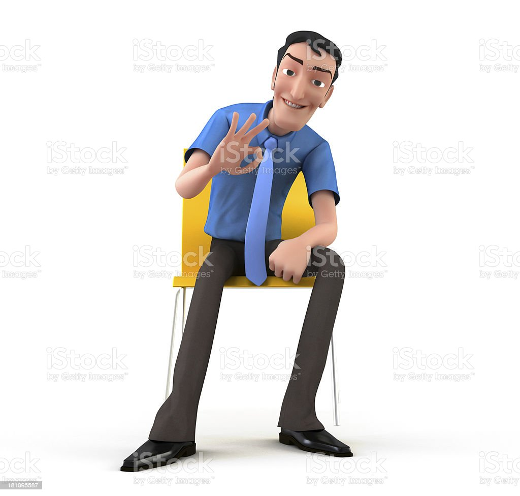 Thumps up stock photo