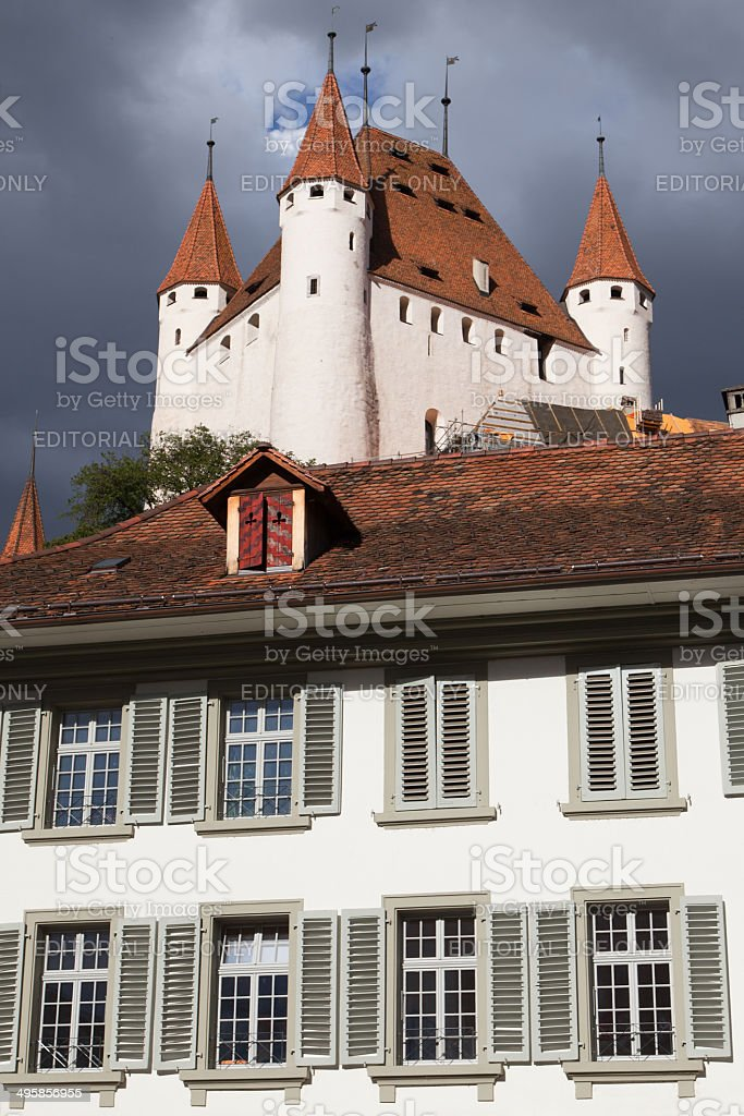 Thun Castle from the City Hall royalty-free stock photo