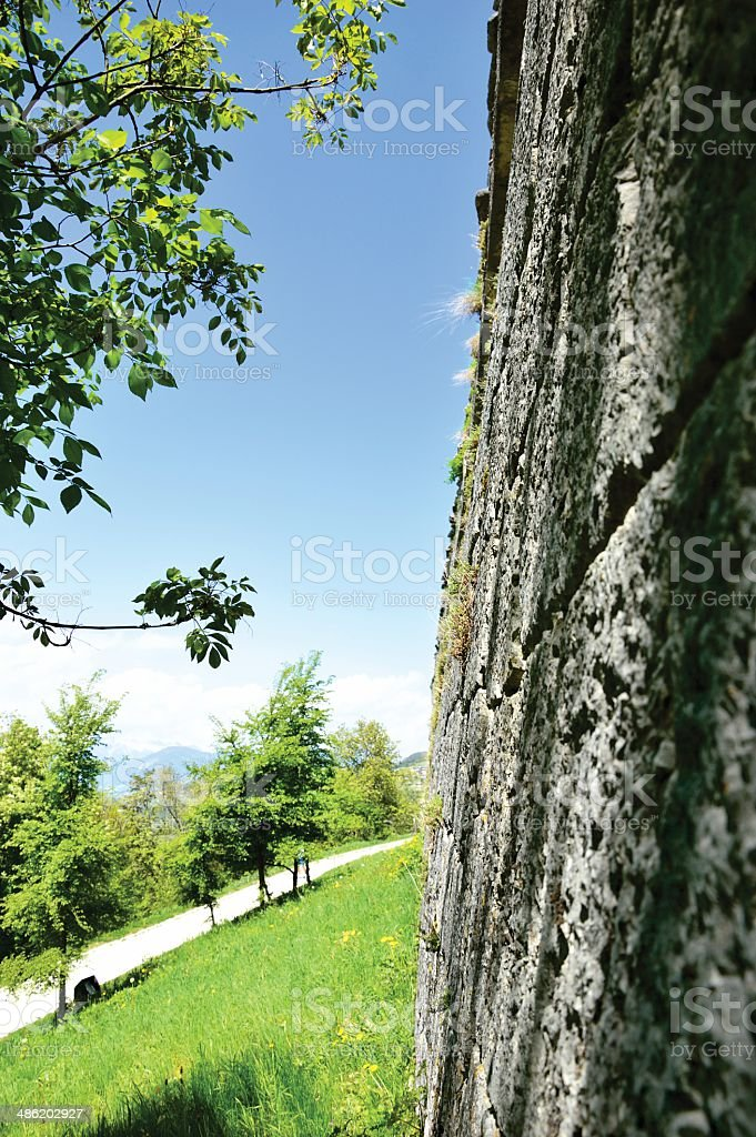 Thun Castle palace in Trento, Italy royalty-free stock photo
