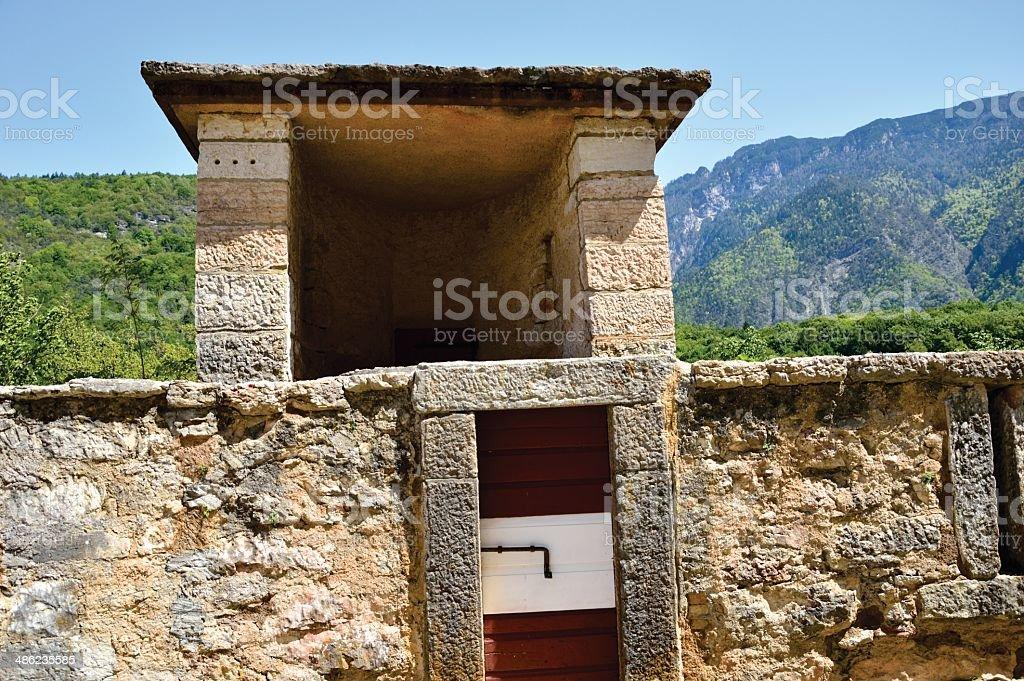 Thun Castle palace in Trento, Italy stock photo