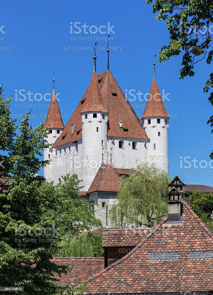Thun Castle stock photo