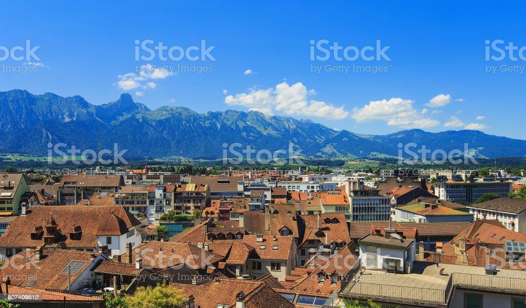 Thun cityscape stock photo