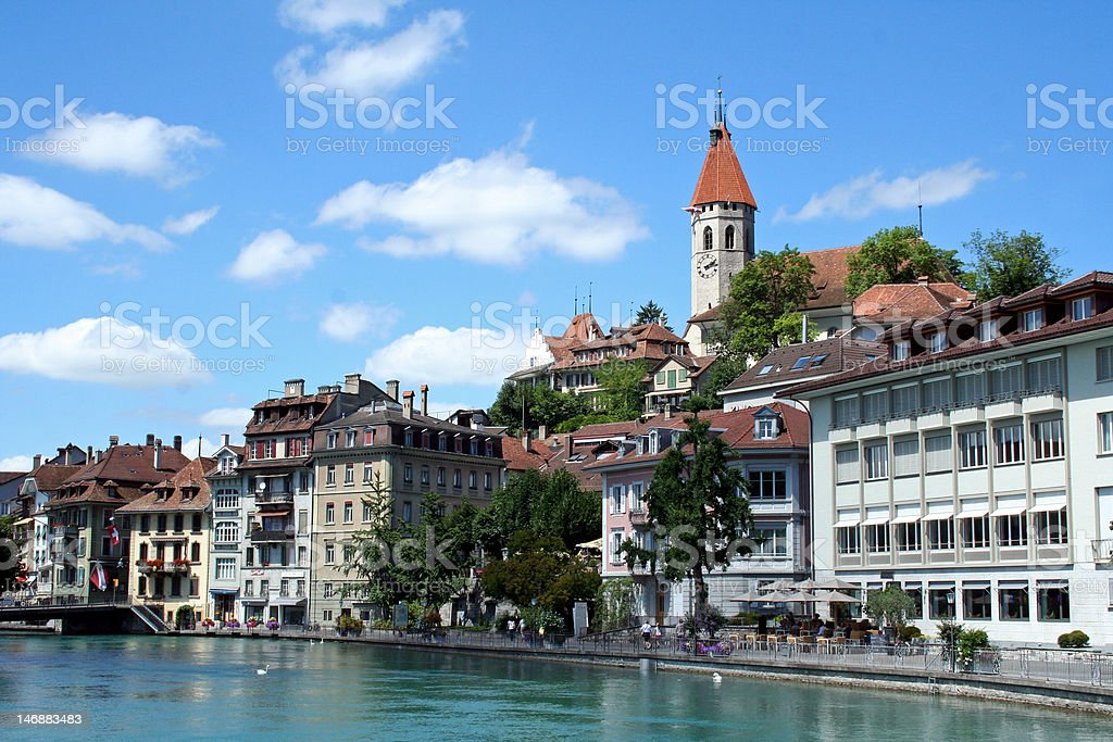Thun in summertime stock photo