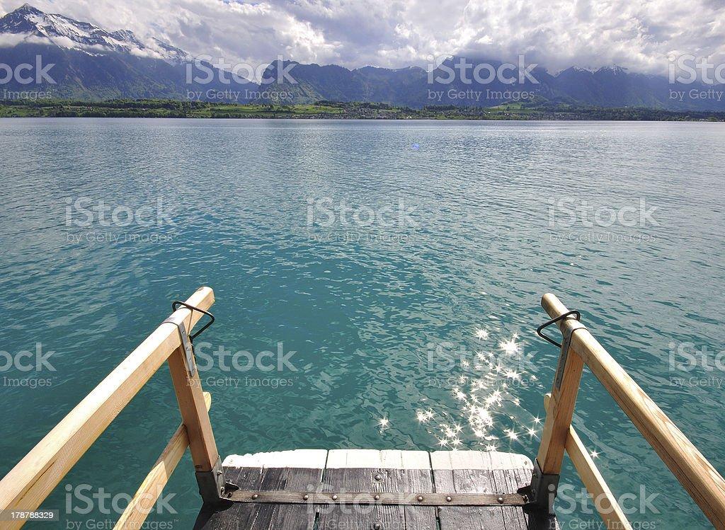 Thun lake in Switzerland royalty-free stock photo