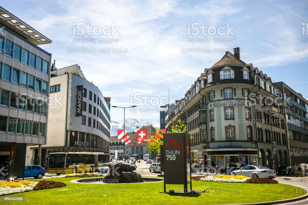 Thun townscape, Switzerland stock photo