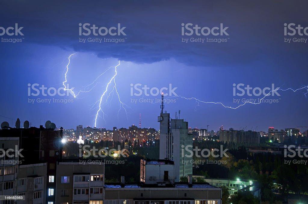 thunder and Lightning royalty-free stock photo