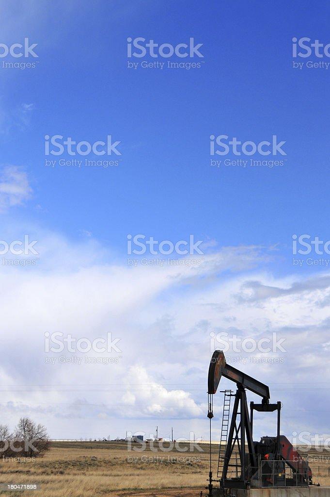 Thunder Basin National Grassland, Wyoming, USA: pumpjack stock photo