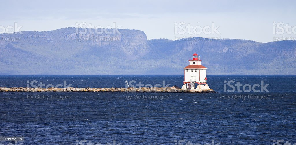 Thunder Bay Lighthouse stock photo