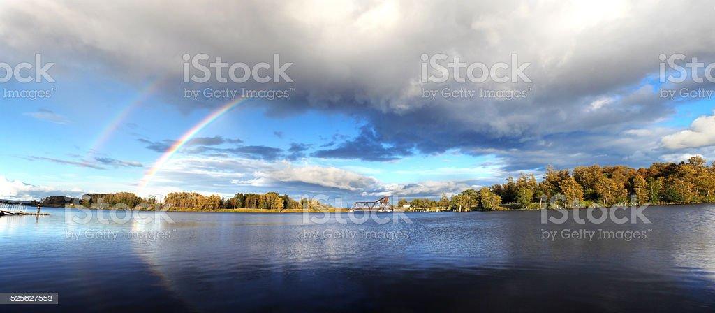 Thunder Bay Rainbow stock photo