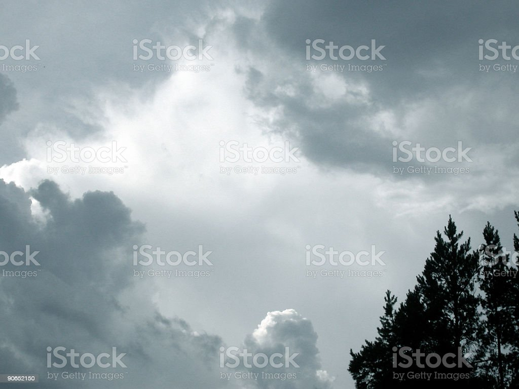 Thunder Clouds 2 royalty-free stock photo