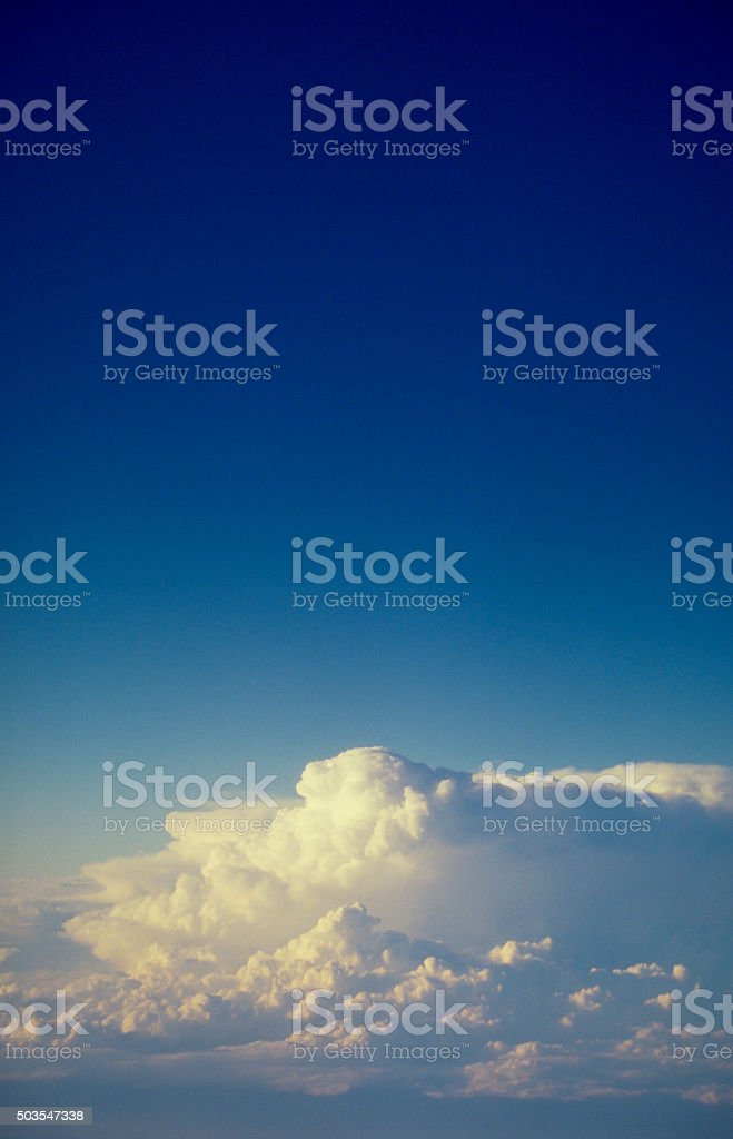 Thunder Clouds and Stratosphere stock photo