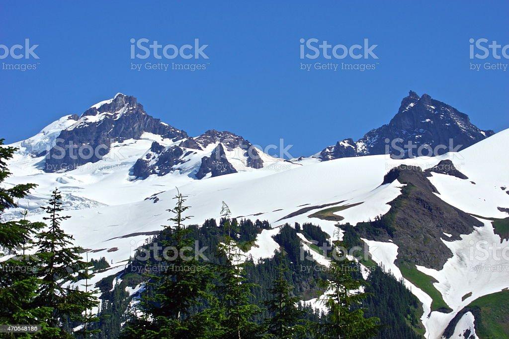 Thunder Glacier Peaks stock photo