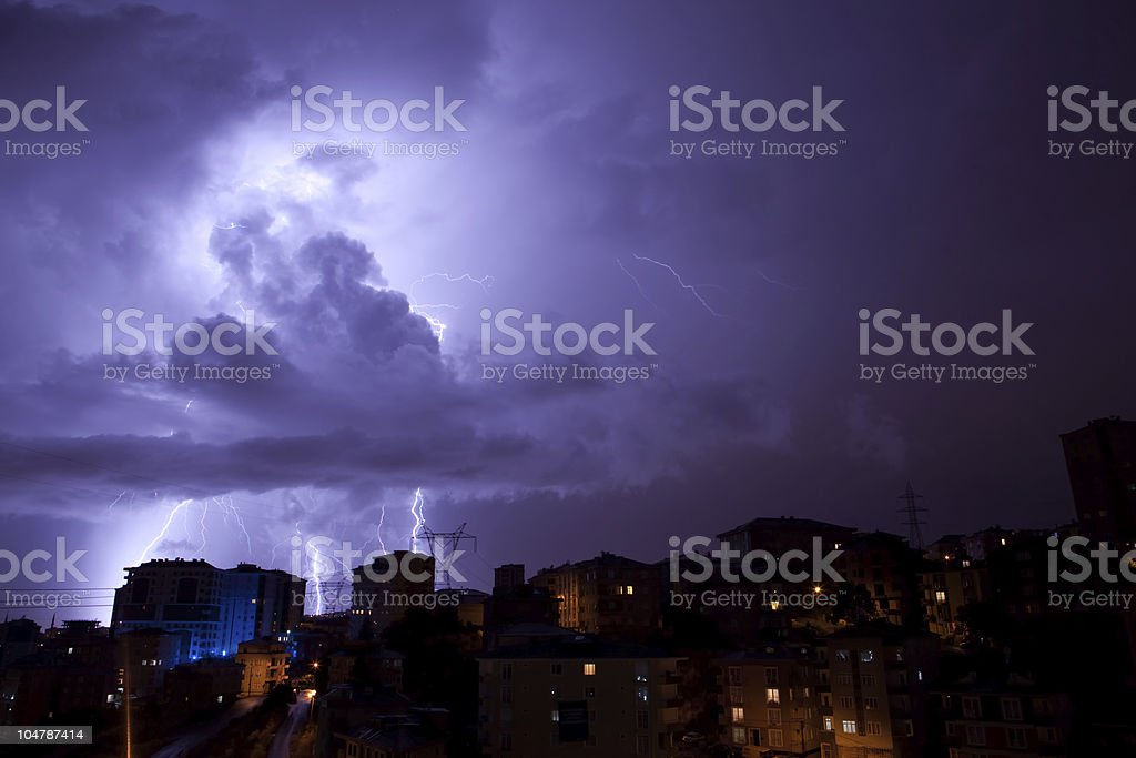 Thunder, lightning stock photo