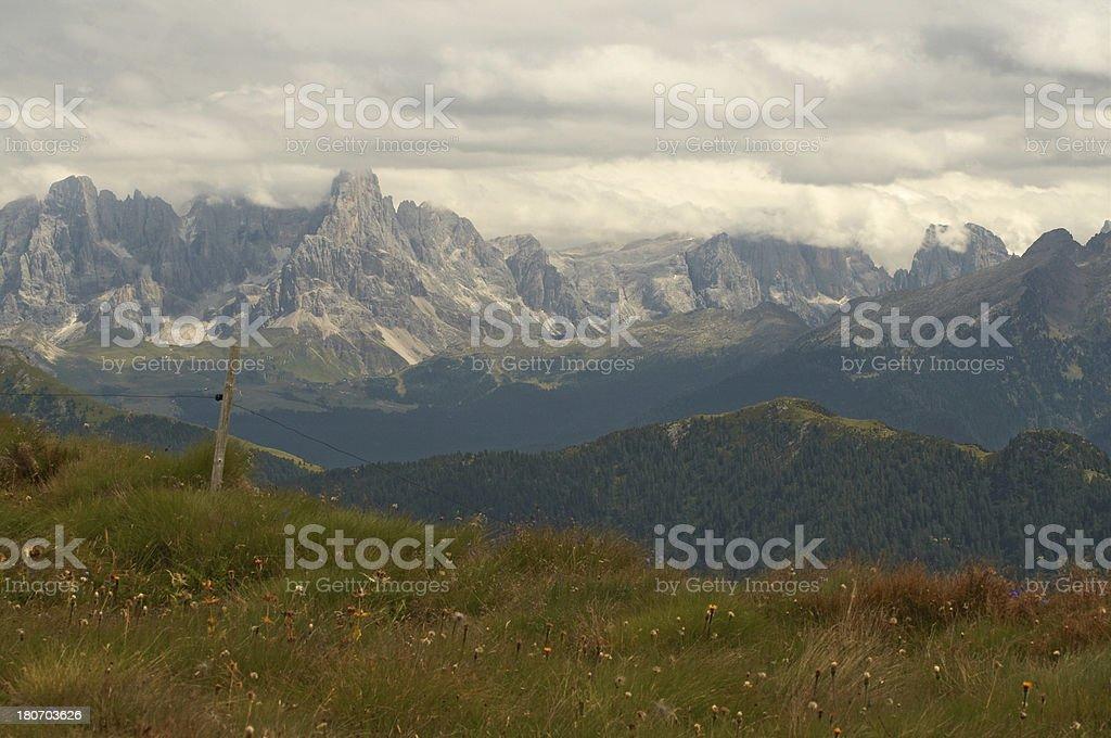 thunder mountains royalty-free stock photo
