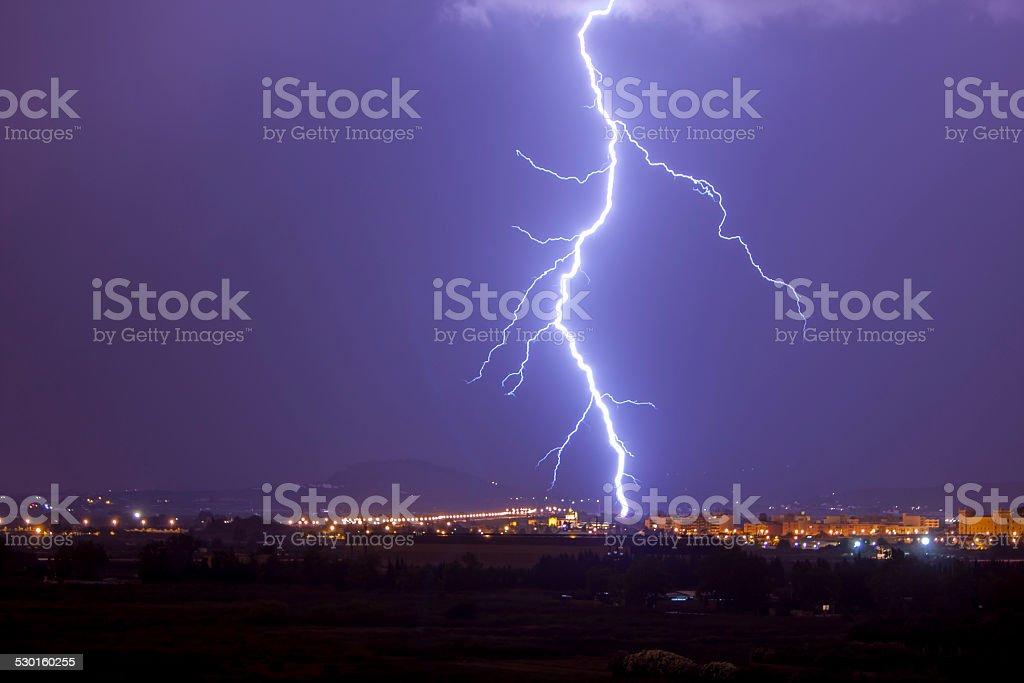 Thunder stock photo