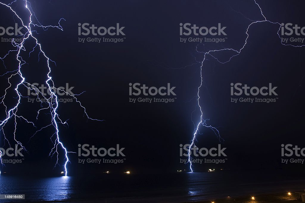 Thunder storm coming in stock photo