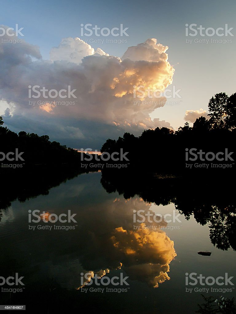 Thunder storm stock photo