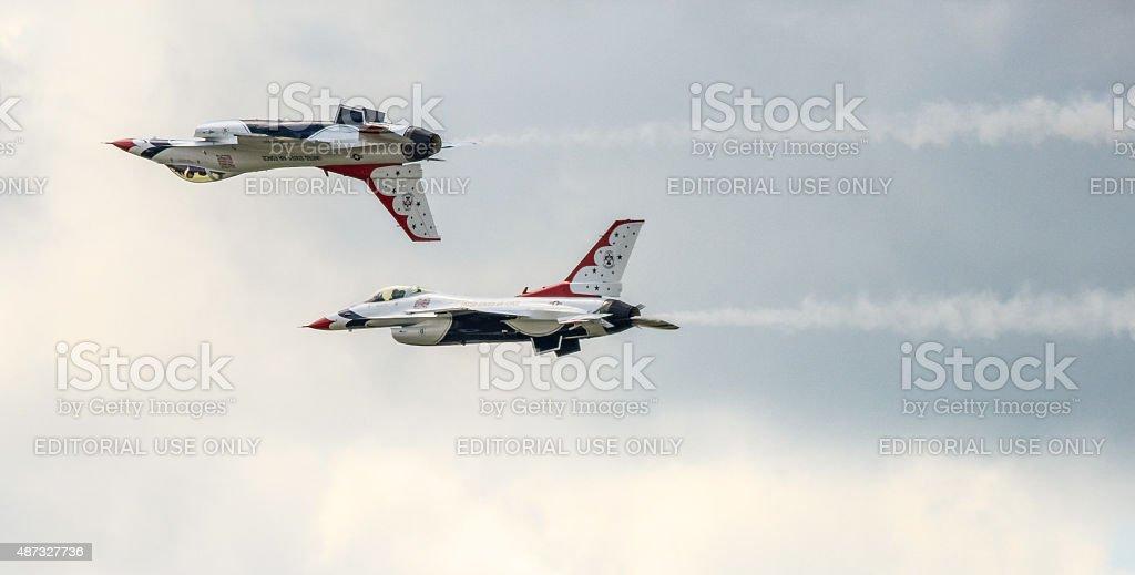Thunderbird demonstration stock photo