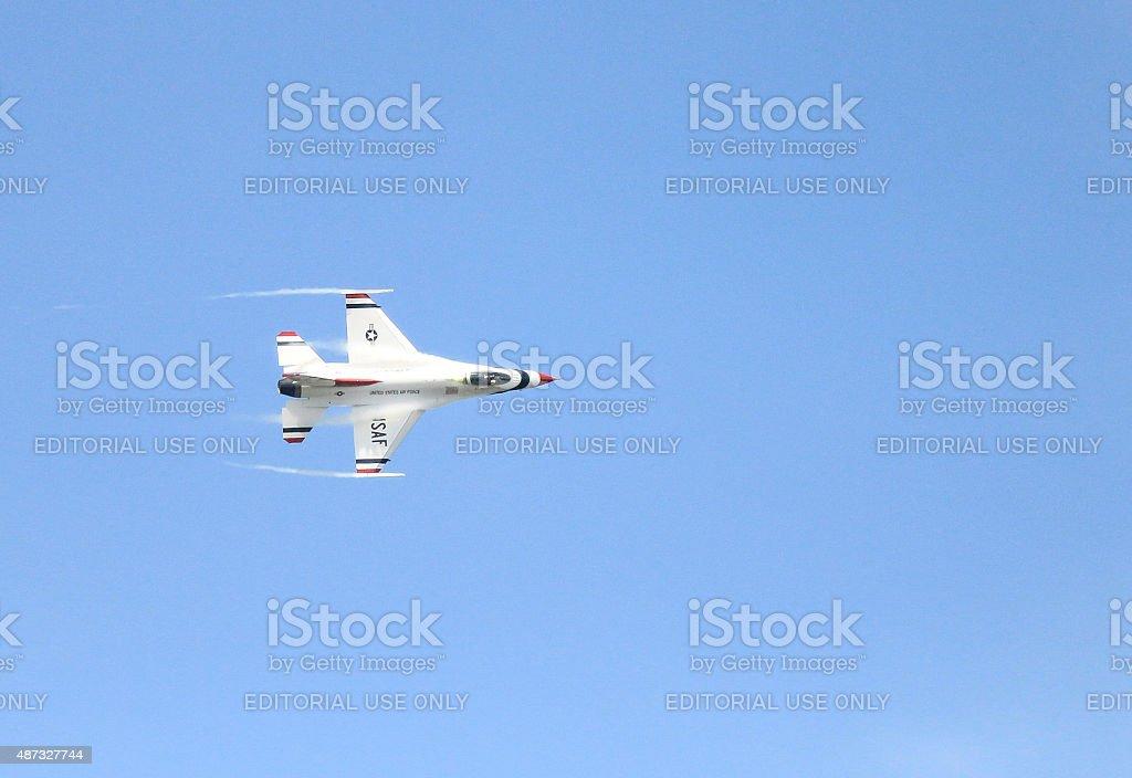 Thunderbird in flight stock photo