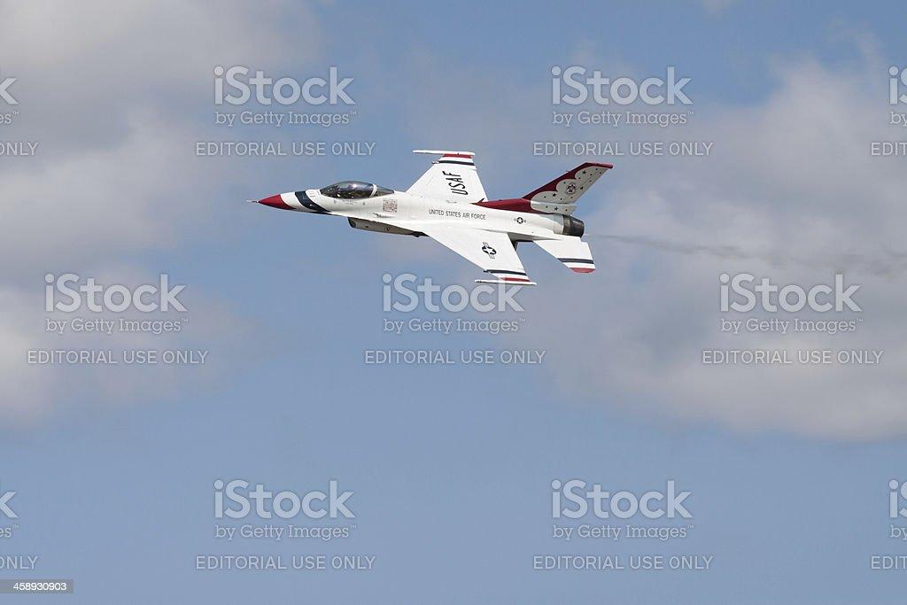 Thunderbird Solo Flight royalty-free stock photo
