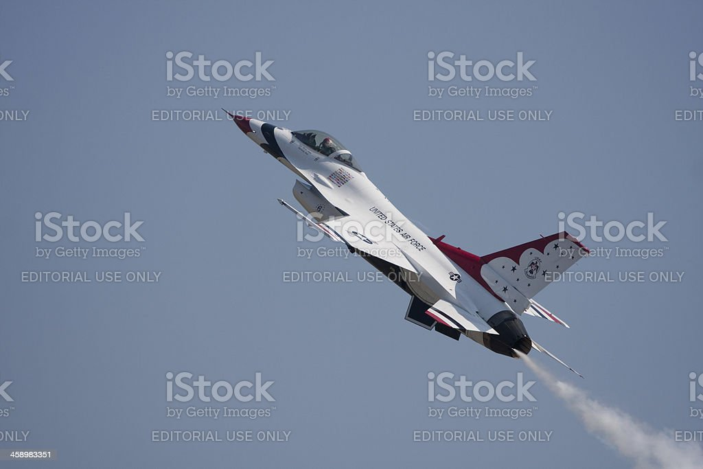Thunderbird Solo Flight stock photo
