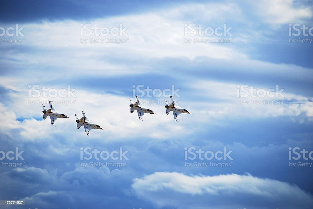 Thunderbirds Airplane Formation stock photo