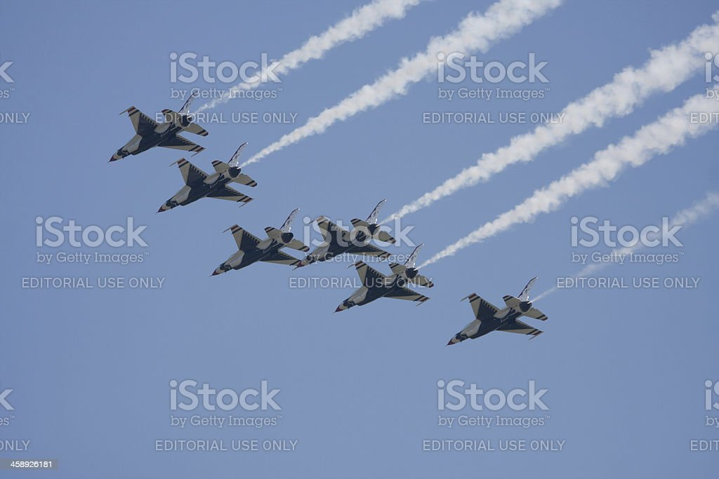 Thunderbirds In Flight stock photo