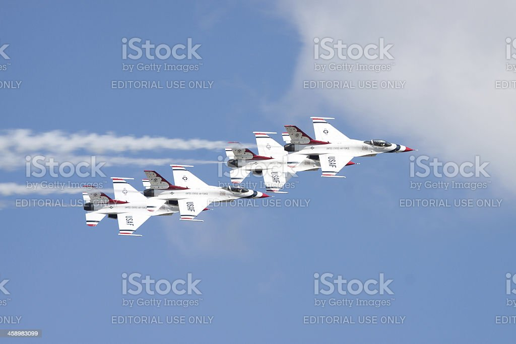 Thunderbirds In Flight royalty-free stock photo