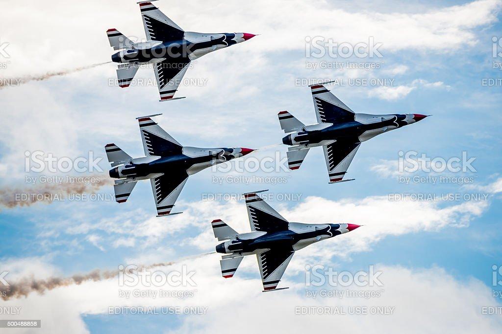 Thunderbirds Overhead stock photo