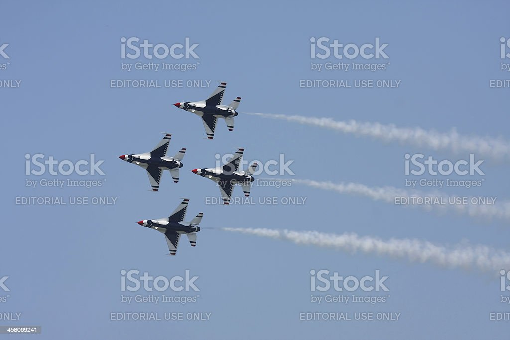 U.S.A.F. Thunderbirds stock photo