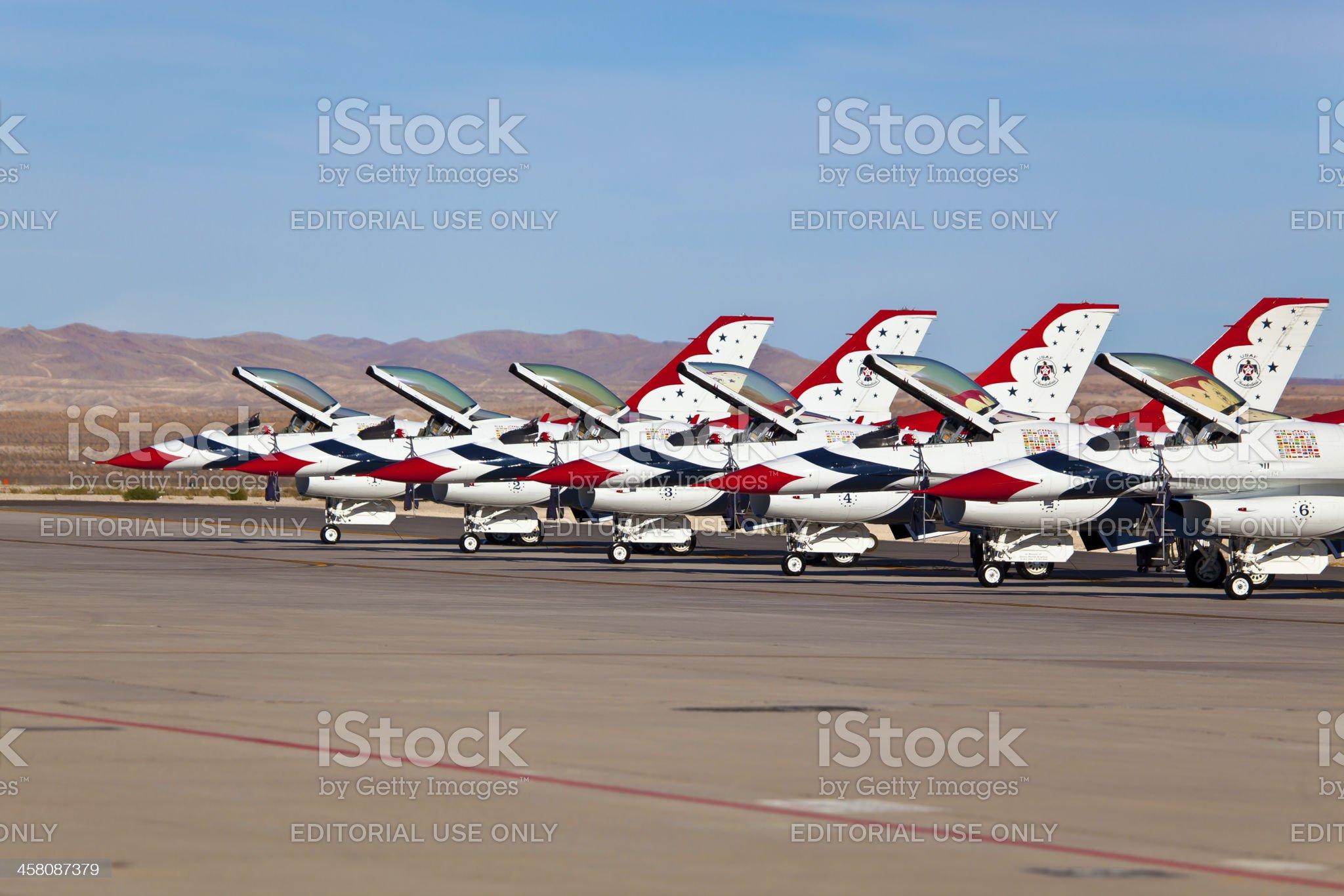 USAF Thunderbirds royalty-free stock photo