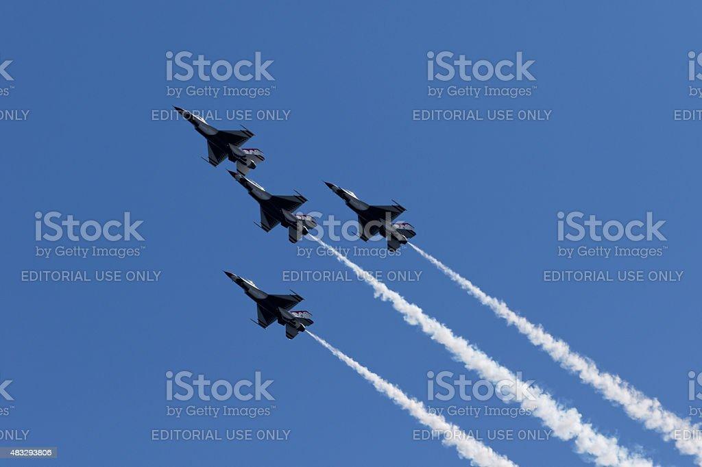 USAF Thunderbirds. stock photo