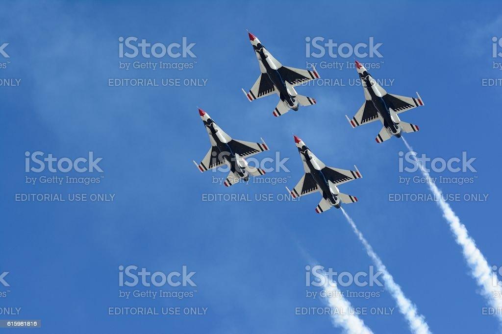 USAF Thunderbirds stock photo