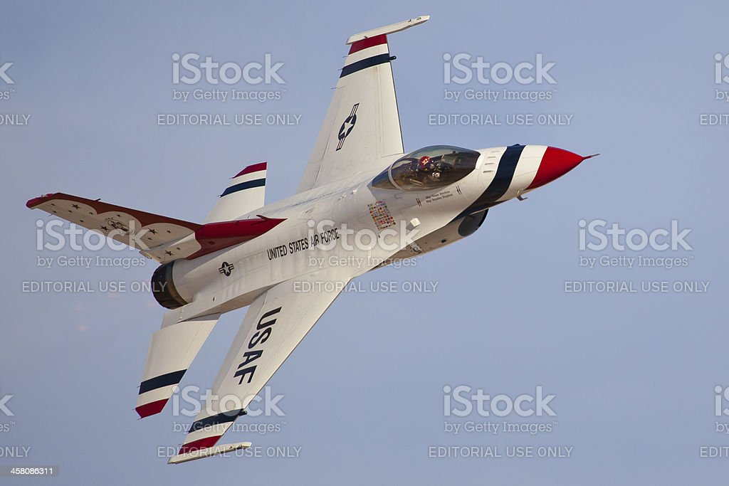 USAF Thunderbirds #5 Solo royalty-free stock photo