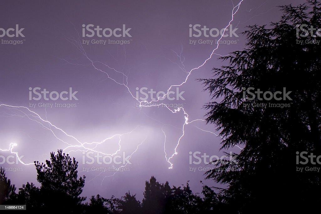 Thunderbolt at night royalty-free stock photo
