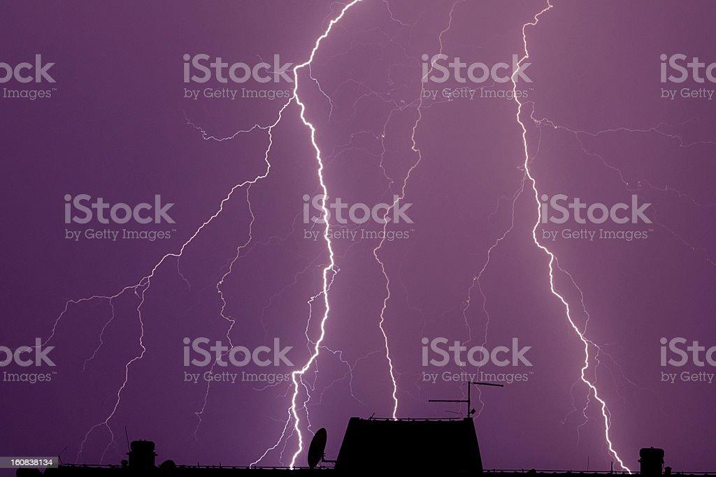 Thunderbolt background stock photo
