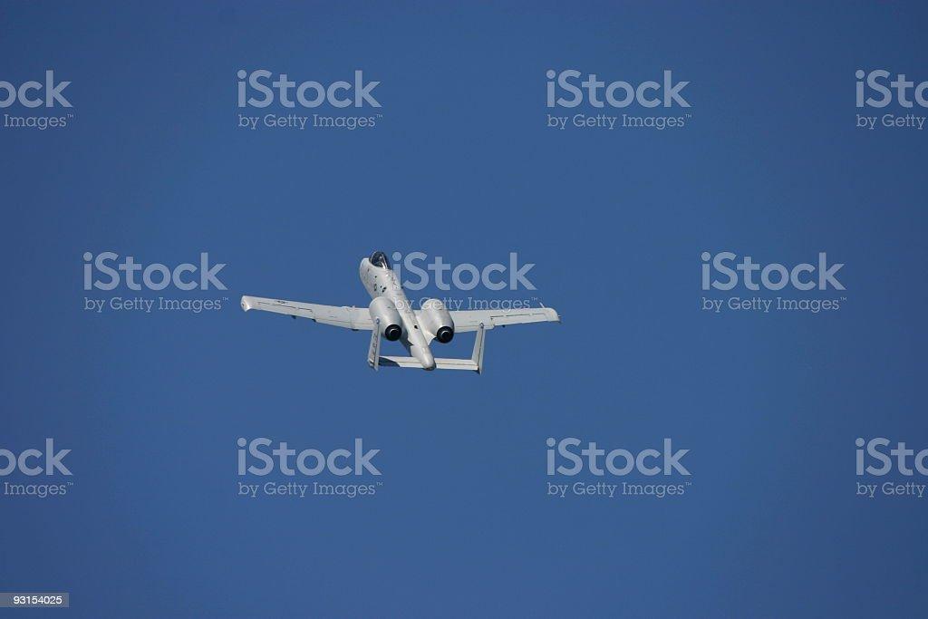 A-10 Thunderbolt climbing stock photo