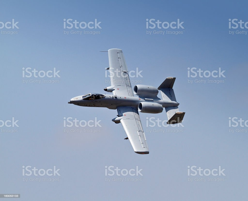 A-10 Thunderbolt fly by stock photo