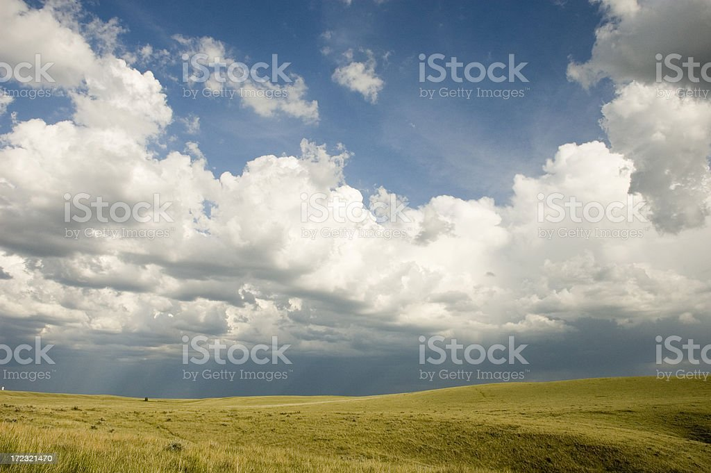 Thunderhead on the Prairie royalty-free stock photo